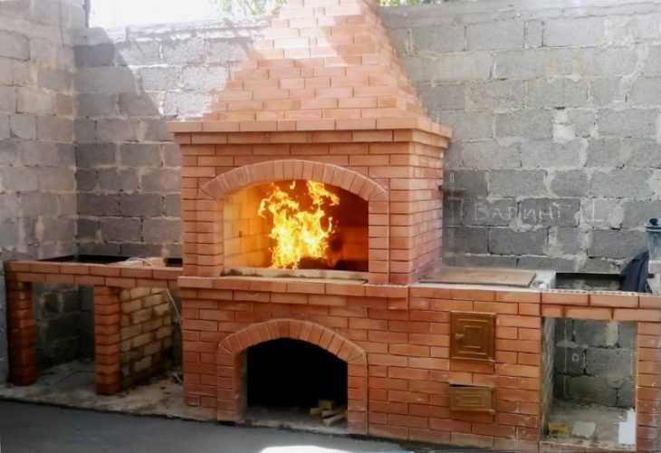 Барбекю из кирпича - 145 фото как сделать самые простые и красивые барбекю своими руками