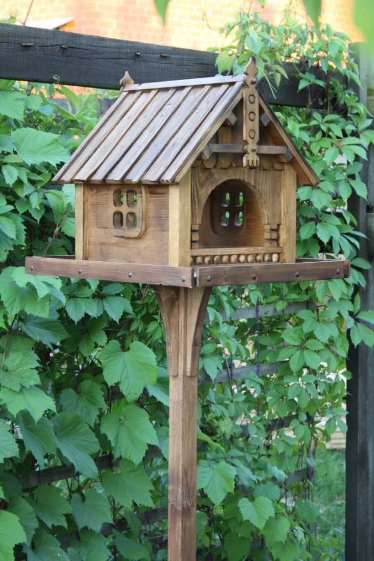 Кормушка для птиц - отличные идеи простых и красивых кормушек для детей и взрослых (125 фото)
