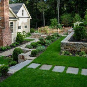 Ландшафтный дизайн участка — идеи создания стильного и красивого придомового участка и сада своими руками (150 фото и видео)