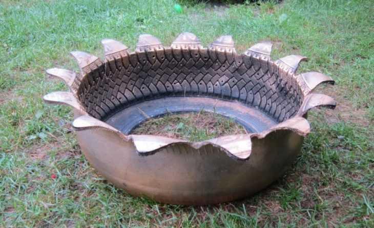 Поделки из шин своими руками: самые креативные и оригинальные варианты украшения сада или участка (видео + 115 фото)