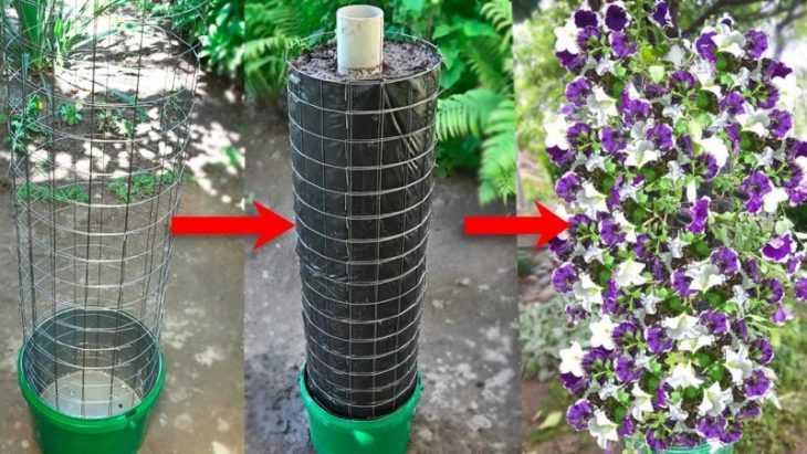 Вертикальные клумбы - варианты постройки и оформления самых простых клумб (видео + 105 фото)